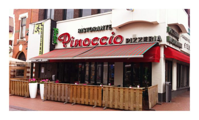 Voorgevel restaurant en pizzeria Pinoccio in Nijmegen